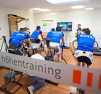 Ergometer training with the UniVET System