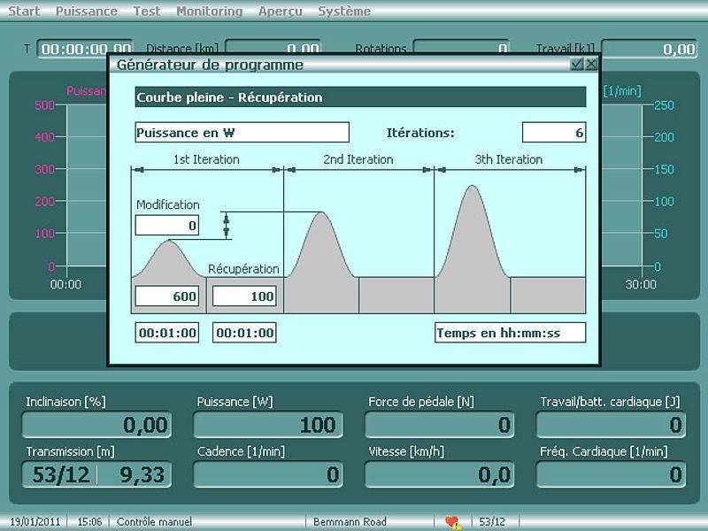 Méthode intensive des intervalles- Cyclus2 - Tests et